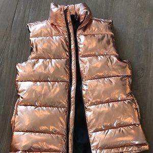 Metallic Rose Gold Puffer Vest